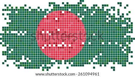 Bangladesh grunge tile flag. Raster version - stock photo