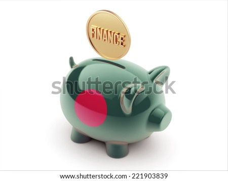 Bangladesh High Resolution Finance Concept High Resolution Piggy Concept