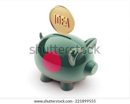 Bangladesh High Resolution Idea Concept High Resolution Piggy Concept