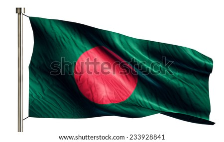 Bangladesh National Flag Isolated 3D White Background - stock photo