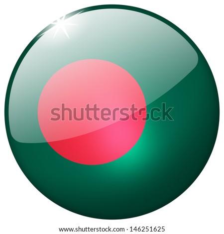 Bangladesh Round Glass Button - stock photo