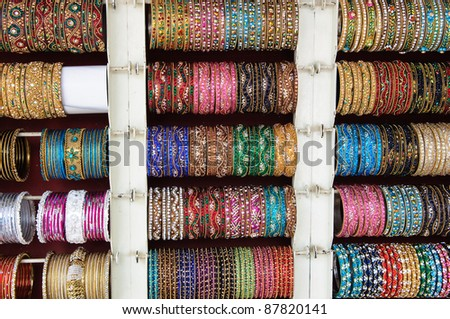 Bangles for Sale at the Market