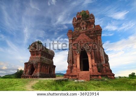 Banh It Towers , Qui Nhon, Vietnam - stock photo