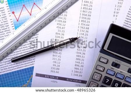 Bank account report - stock photo