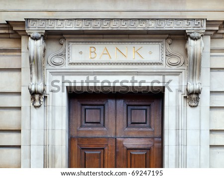 Bank building - stock photo