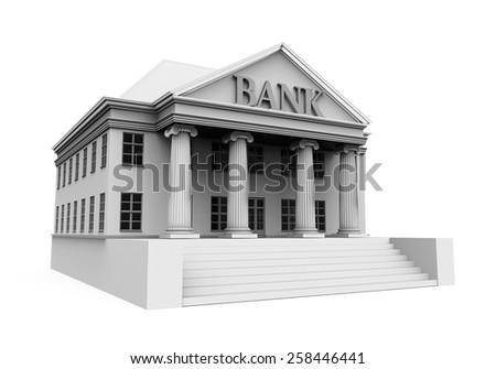 Bank Building Illustration - stock photo