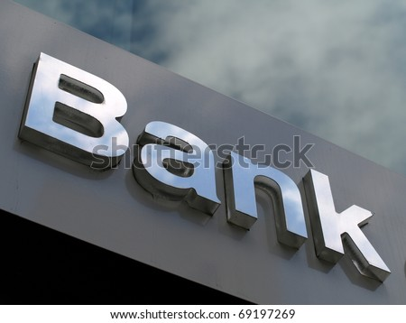 Bank business corporation office sign - stock photo