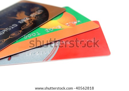 Bank cards - stock photo