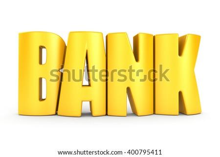 Bank 3d text - stock photo