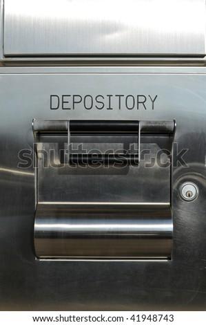 bank deposit box - stock photo