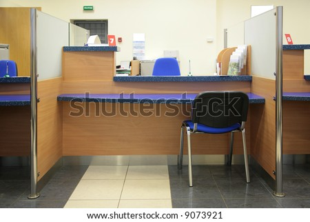 bank desk - stock photo