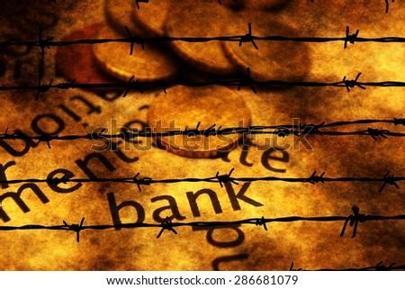Bank grunge concept - stock photo