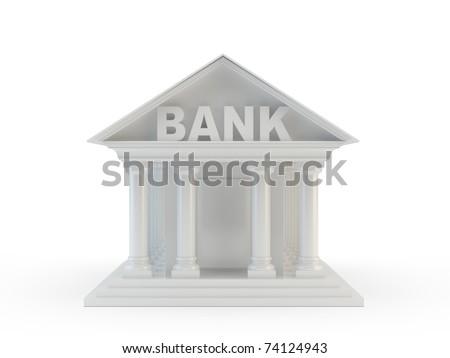 Bank icon - stock photo