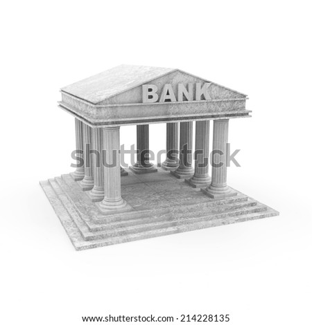 Bank Icon isolated on white background