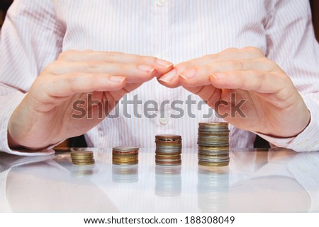 bank investment, save and growth money concept - stock photo