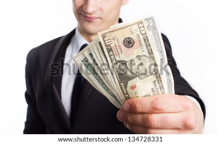 Bank job - stock photo