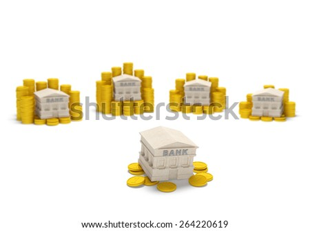 Bank liquidity crisis (financial concept). Problem liquidity of banking system as a result of bad debts and credits, cash deficit (money scarcity), ineffective management. With shallow depth of field - stock photo