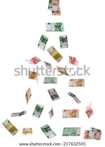 Bank Note On The White - stock photo