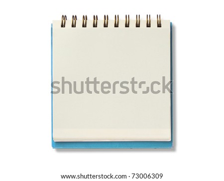 bank notebook isolated on white background