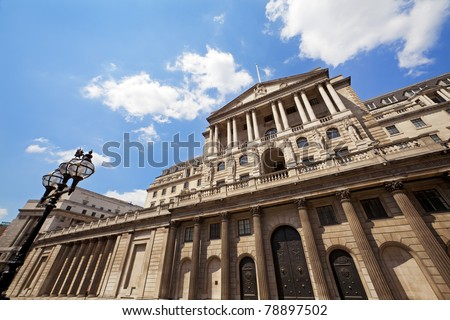 Bank of England Architecture, London, UK - stock photo