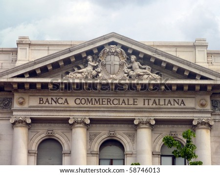 Bank of Italy - stock photo