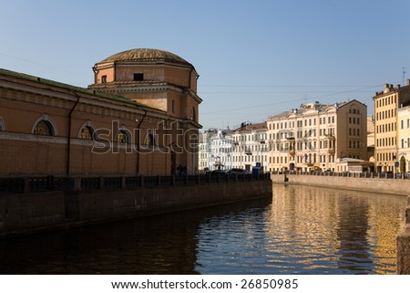 Bank of  the Moika river, Russia, Saint-Petersburg