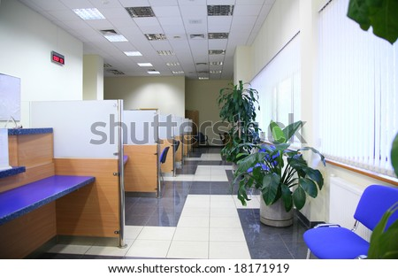Bank office - stock photo