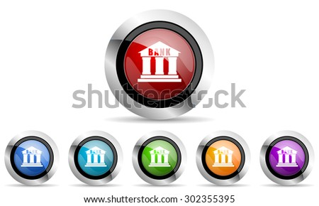 bank original modern design colorful icons set for web and mobile app on white background