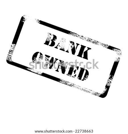 bank owned - stock photo
