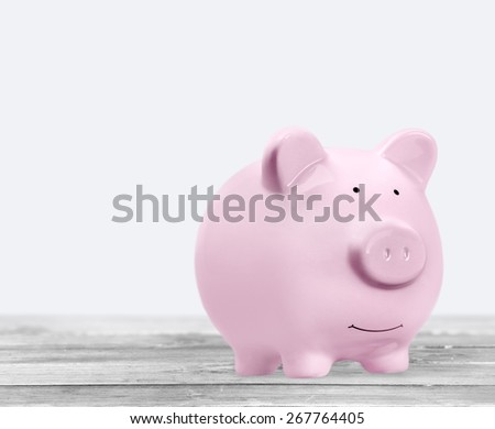 Bank. Piggy bank isolated on white background - stock photo