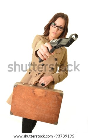 Bank robber - stock photo