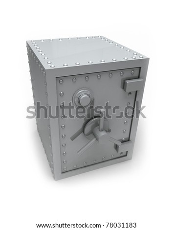 Bank safe. - stock photo