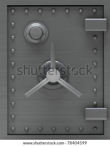 Bank safe door.