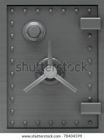Bank safe door. - stock photo