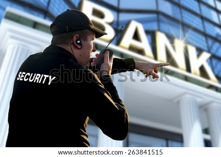 bank security officer - stock photo