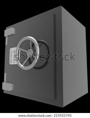 bank vault, safe. realistic. isolated on black background. 3d illustration