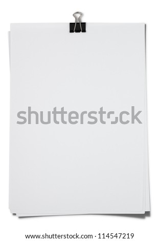 Bank white paper isolated with Clipping Path - stock photo