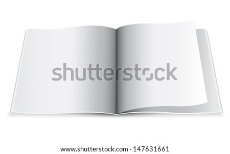 Bank white paper on white background