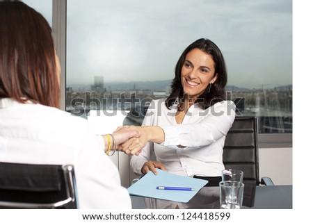 banker lending - stock photo