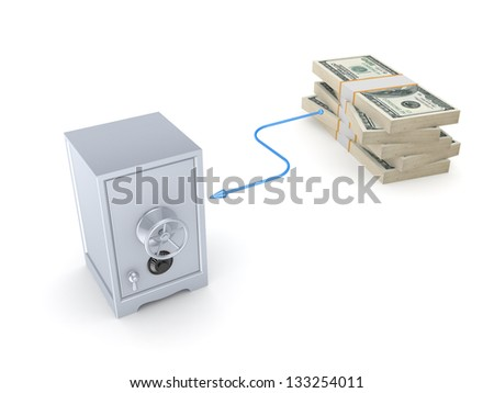 Banking concept.Isolated on white background.3d rendered. - stock photo