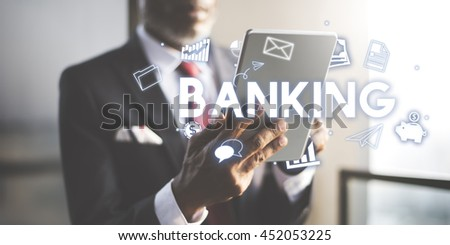 Banking Financial Economy Money Currency Concept - stock photo