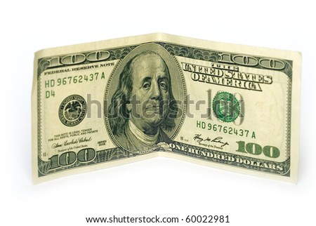 banknote isolated on a white background - stock photo