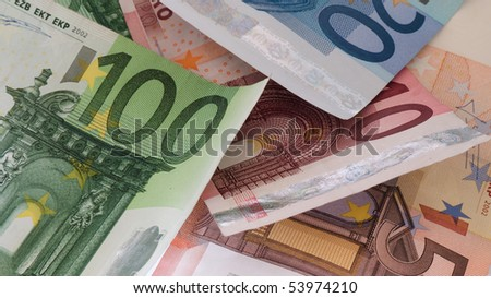 Banknotes Euro - stock photo