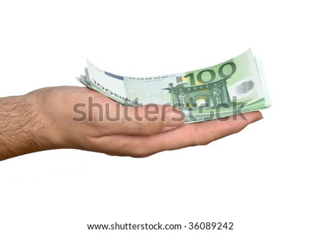 Banknotes in hand
