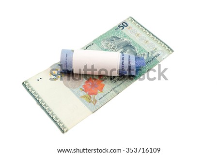 banknotes isolated on white background