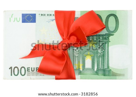 Banknotes with Ribbon - stock photo