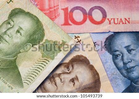 Banknotes - Yuan bills of China - stock photo