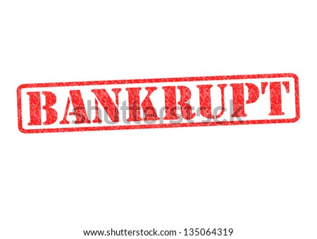 BANKRUPT Rubber Stamp over a white background. - stock photo