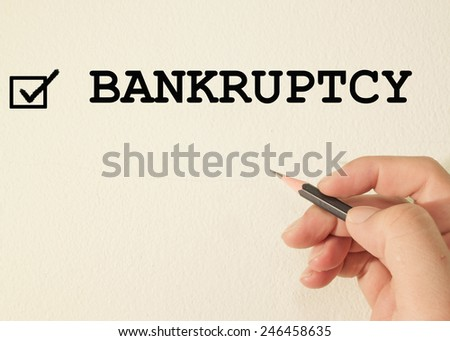 bankruptcy check mark sign - stock photo