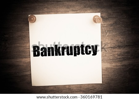 bankruptcy concept  - stock photo